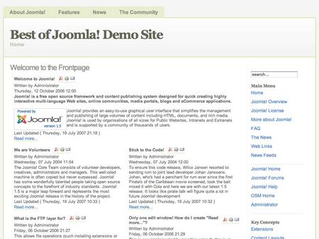 free joomla template newsflash