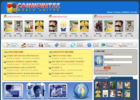 Joomla Template - Communitee