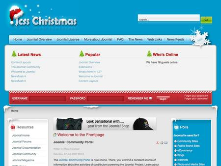 joomla template - christmas joomla 1.5 template, Powerpoint templates