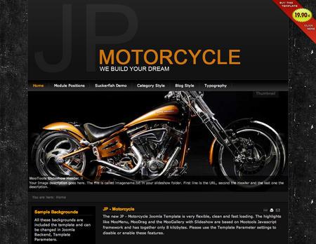 joomla template jp motorcycle