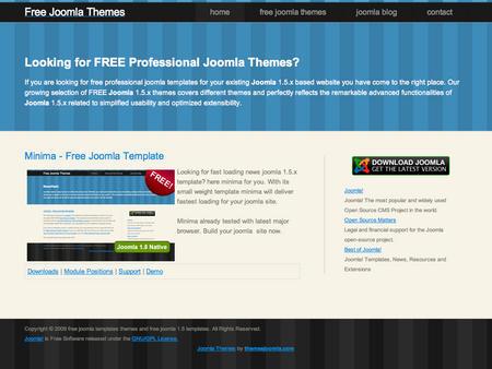 Minima Free Joomla Themes