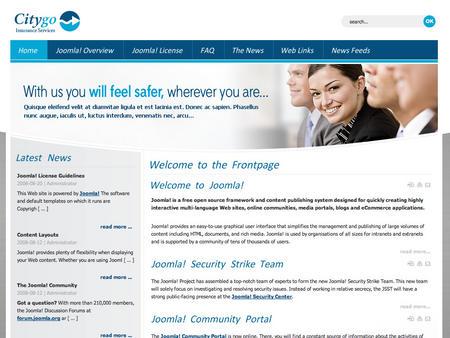 dj insurance joomla template  Joomla Template - Dj-Insurance