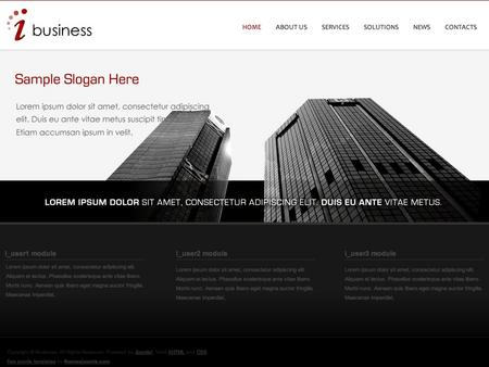 i-Business - Free Joomla Template