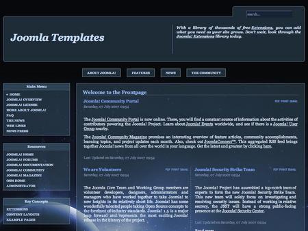 best photos of joomla 1 free joomla template planets