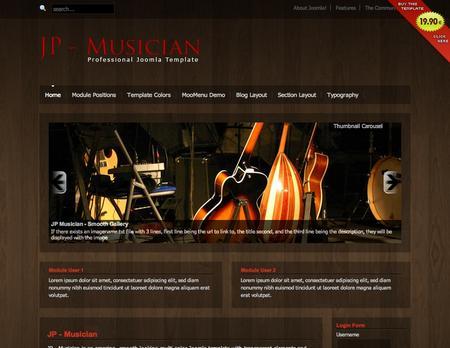 JOOMLA TEMPLATES MUSICIANS