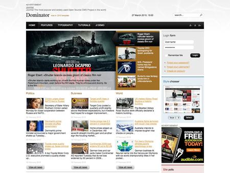 joomla template - dominator best joomla 1.5 template, Powerpoint templates