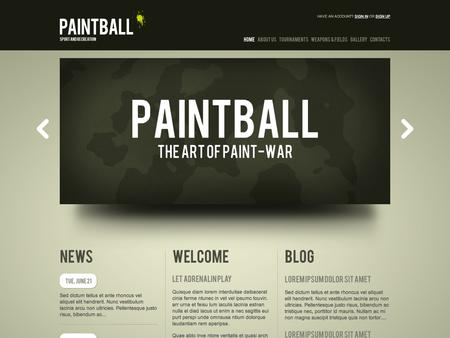 Joomla Flash Template Paintball