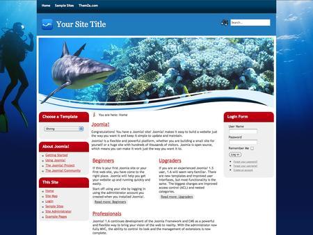 best photos of joomla 1 free joomla template diving