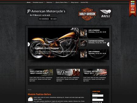 joomla template jp american motorcycle