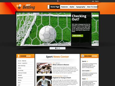 Gambling website template