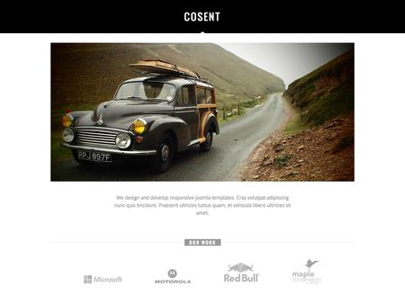 Cosent Responsive Joomla One Page Template