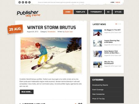 Joomla template publisher for Jooma templates