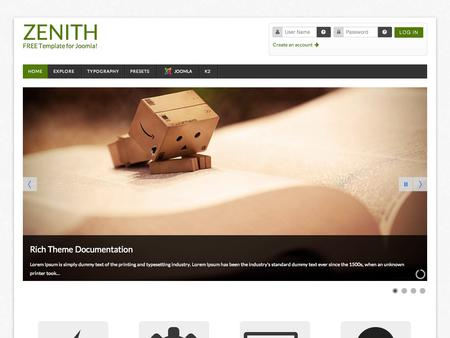 Zenith Premium Joomla Template Free