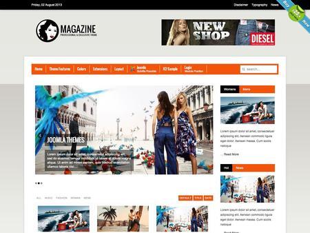 Joomla Template Magazine v2