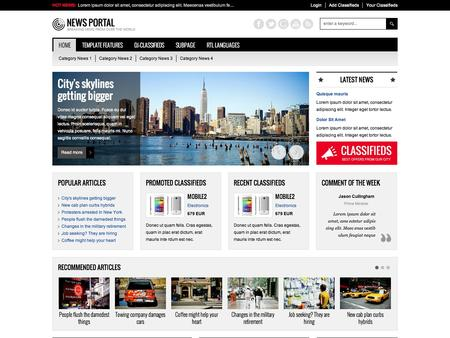 Joomla Template Jm News Portal