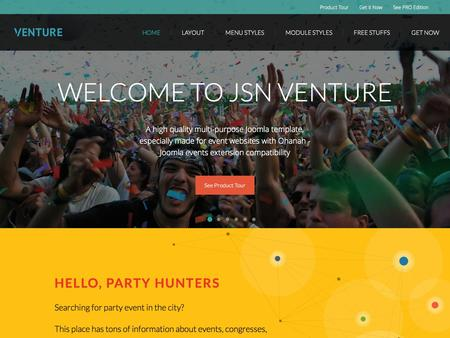 JSN Venture � Perfect event template