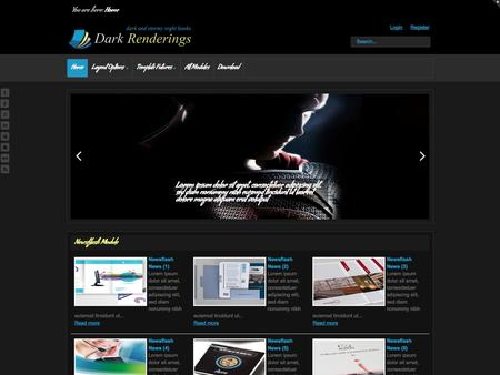 Dark Renderings - Bookshop & Entertainment Template