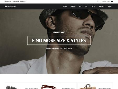 Storefront Shopping Template