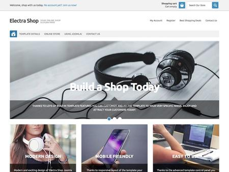 Electra Shop Joomla Template