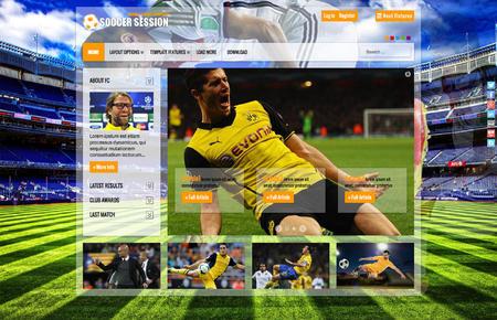 SoccerSession - Sport Joomla! Template