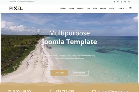 Pixel Multipurpose Joomla Template