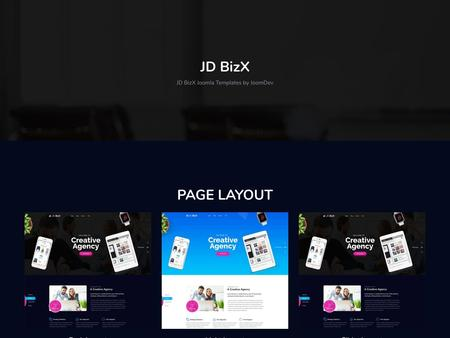 JD BizX - One Page Business Joomla Template