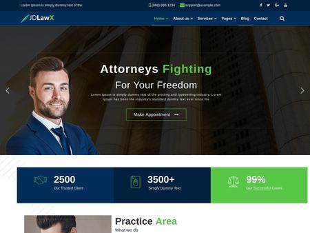 JD LawX - Law Business Joomla Template