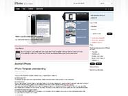 IPhone Joomla template