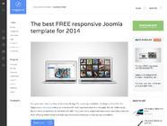 Magazine: a free blog Joomla template